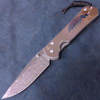 Chris Reeve Knives Large Sebenza 21 Unique Damascus Raindrop Drop Point