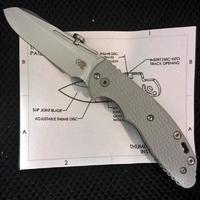 Rick Hinderer Knives XM Slippy Stonewash G10 Grey