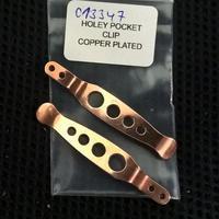 Rick Hinderer Knives XM Holey Pocket Clip SS 17-4 Cu Plate