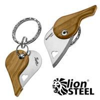 LionSTEEL LionBeat Handle Olive Wood