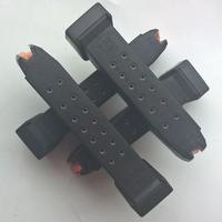 Glock zásobník s oranžovým podavačem a botkou pro Glock 19 - 17 ran