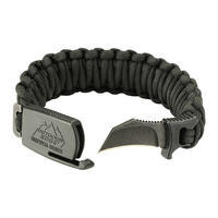 Outdoor Edge Para Claw Paracord Knife Bracelet Medium Black