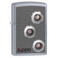 Zippo Lighter Bullet Holes