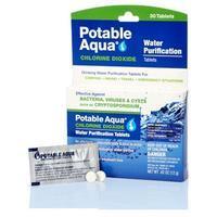 Potable Aqua Water Purification Chlorine Dioxide Tablets 30 Pack