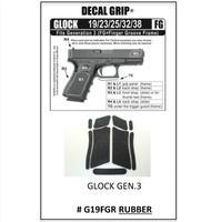 Decal Grip Rubber for Glock 19 Gen 3