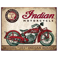 Tin Sign Indian Scout Motorcycle