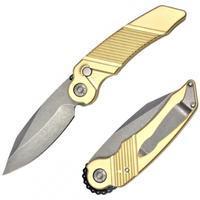Rat Worx MRX Chain Drive Knife Brass S/E Blade Stonewash