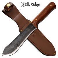 Elk Ridge ER-200-12L Fixed Knife Wood Handle