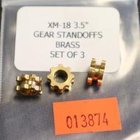 Rick Hinderer 3.5 XM-18 Standoffs Gear Brass Set of 3