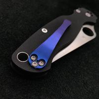 Spyderco Blue Titanium Clip by Steve Love