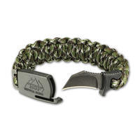 Outdoor Edge Para Claw Paracord Knife Bracelet Medium Camo