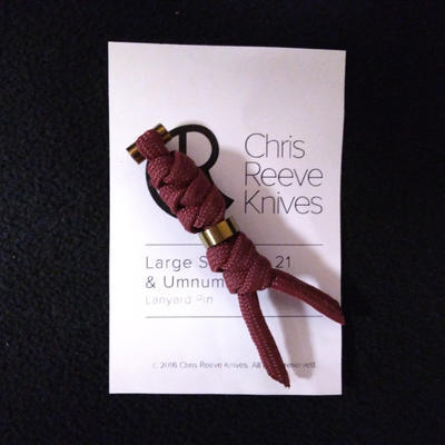 Chris Reeve Lanyard L21 Gold and Maroon Red