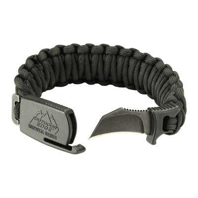 Outdoor Edge Para Claw Paracord Knife Bracelet Large Black