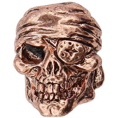 Ozdoba - Schmuckatelli One Eyed Jack Skull Bead Antique Cooper