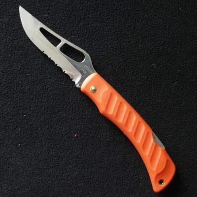 Mikov Krokodyl s pojistkou oranžový polozubatý bez klipu