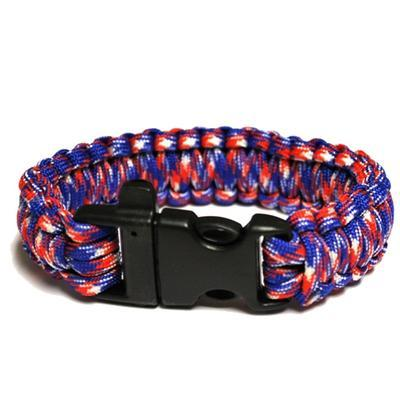 Halloween Paracord Bracelet Red/wh./blue