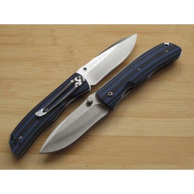 Sanrenmu 9055MUC-GHI Blue/Black G-10 Handle