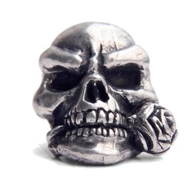 Ozdoba - Schmuckatelli Rose Skull Pewter