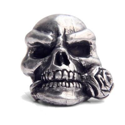 Ozdoba - Schmuckatelli Rose Skull Pewter