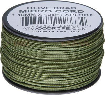 Micro Cord 1.18 mm Olive Drab Cívka 38 m
