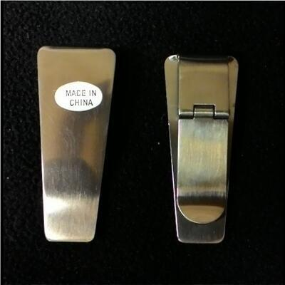 Hinged Money Clip Silver M4325