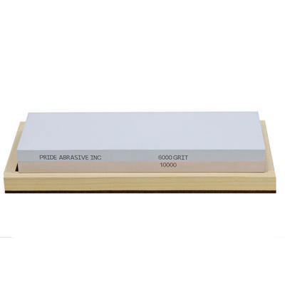 Pride Abrasive Inc. Water Stone 6000/10000 Grit Wood Box - 1