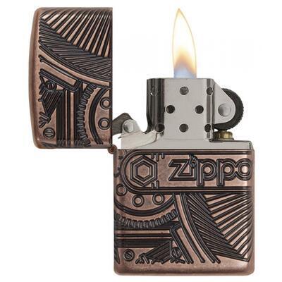 Zippo Armor Gears Antique Copper - 1