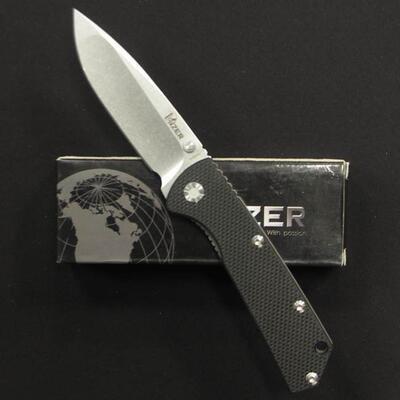Kizer 403 Black G-10/Titanium Handle