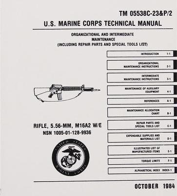 U.S. Marine Corps Technical Manual Rifle 5,56 mm M16A2 W/E