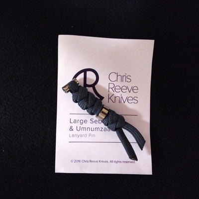 Chris Reeve Lanyard L21 Silver and Navy Blue