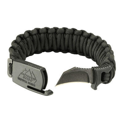 Outdoor Edge Para Claw Paracord Knife Bracelet Medium Black