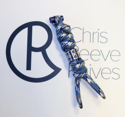 Chris Reeve Lanyard Knotted Premium for Large Sebenza Camo Blue
