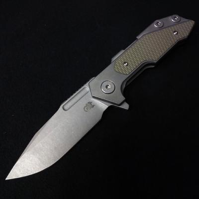 Rick Hinderer Fulltrack Spanto Tri-Way Working Finish OD Green G10  - 1