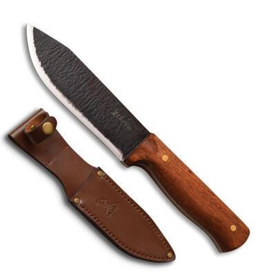 """Elk Ridge Hunting Knife 5,5"""" Carbon Steel Wood Handle - 2"""