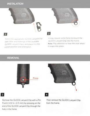 Glock Záslepka pažbicky s očkem pro G17/19 a 22/23... Gen 3 - 2