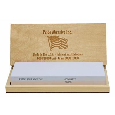 Pride Abrasive Inc. Water Stone 6000/10000 Grit Wood Box - 2