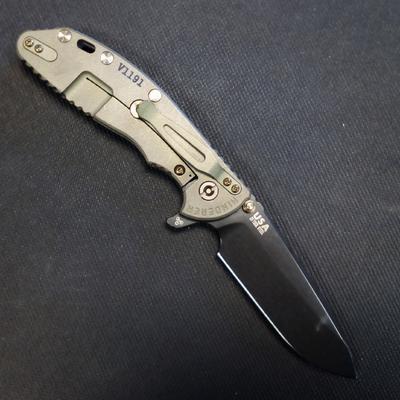 """Rick Hinderer XM-24 4"""" Spearpoint Tri-Way Vintage series Textured Walnut - 2"""
