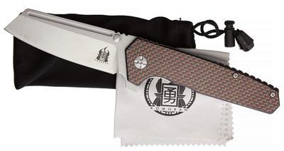 Komoran Linerlock Folding Knife Red Carbon Fiber - 2