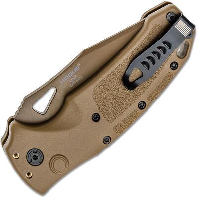 "HOGUE SIG SAUER K320 M17 3,5""Drop Point Folder Coyote Tan - 2"