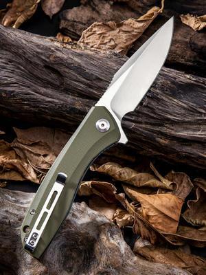 Civivi Baklash Green G-10 Scale 9Cr18MoV Blade - 2