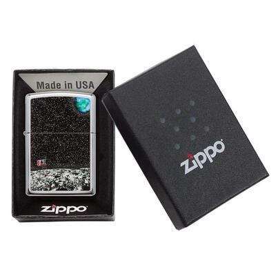 Zippo Custom Moon Landing Design - 3