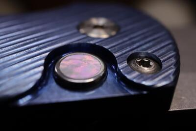 Pro-Tech Malibu Flipper Custom 3D Titanium Blue Handle - 3
